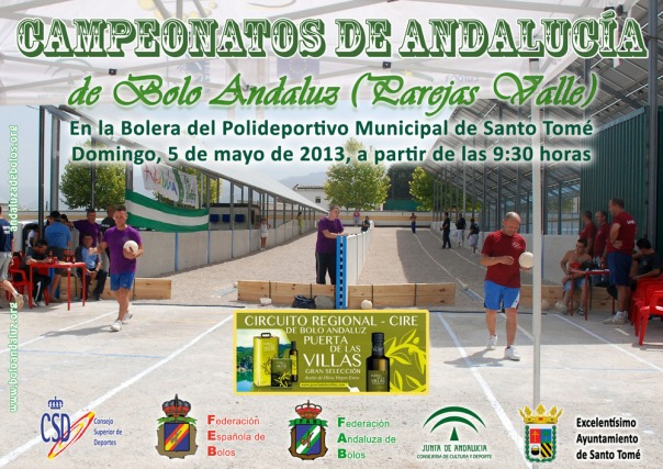 Cartel Campeoanto Andalucia Parejas Bolo Andaluz red