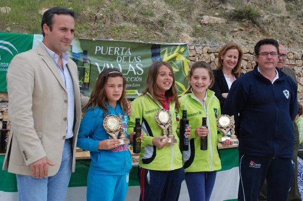 Podium-cadetes-femeninas-V-Trofeo-Parque-Natural-Cazorla