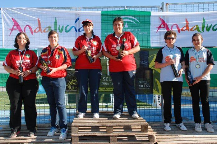 Podium-femenino-Campeontato-Andalucia-Bolo-Andaluz-parejas