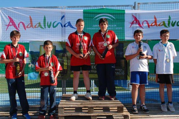 Podium-infantiles-Campeontato-Andalucia-Bolo-Andaluz-parejas