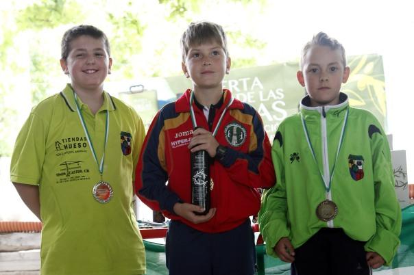 podium benjamines campeonato andalucia bolo andaluz montaña 2013