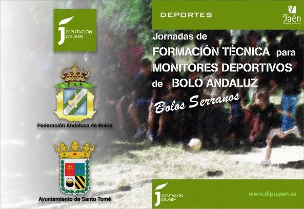 Folleto Jornadas Formación Técnica Monitores Deportivos Bolo Andaluz