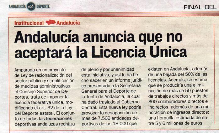 Licencia única