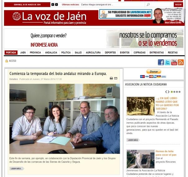 Portada La Voz de Jaén