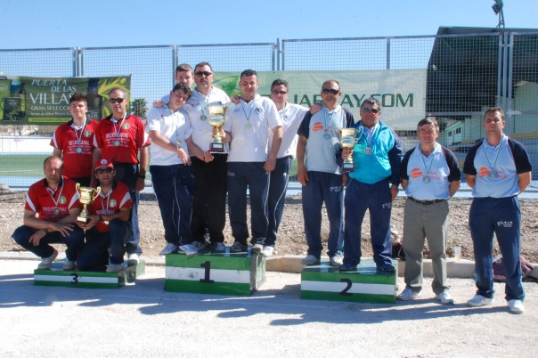 Podium masculino campeonatos andalucia bolo andaluz equipos 2014