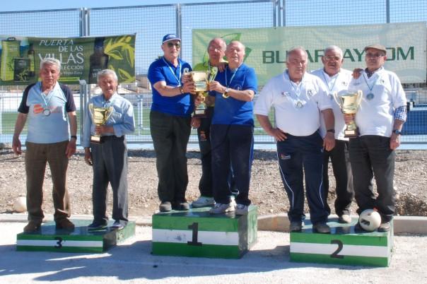 Podium veteranos campeonatos andalucia bolo andaluz equipos 2014