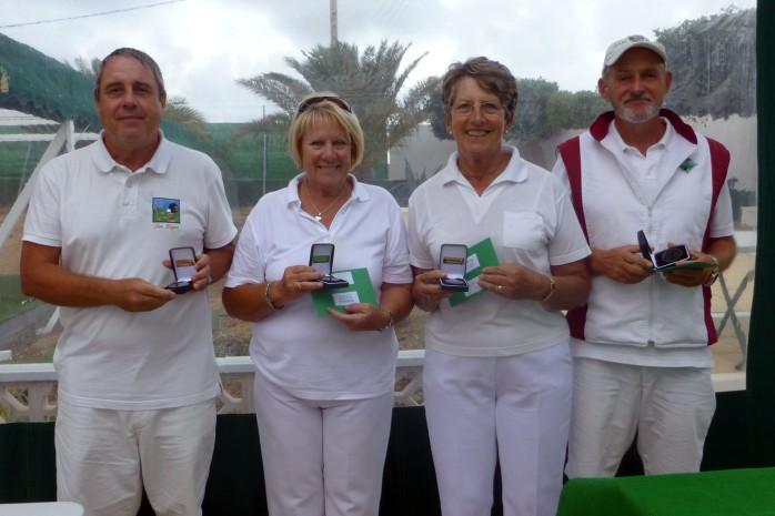Campeonato de Andalucía Bolo Césped Tom Rogers Mary Detheridge Barbara Land  Terry Mogan Mixed Winners