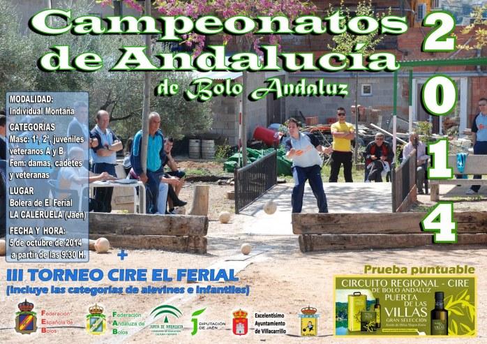 Cartel reducido Campeonato Andalucia Bolo Andaluz Montaña copia