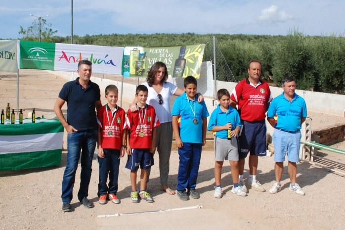 Podium-alevin-Campeonato-de-Andalucia-Bolo-Andaluz-Montaña-2014
