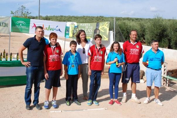 Podium-infantil-Campeonato-de-Andalucia-Bolo-Andaluz-Montaña-2014