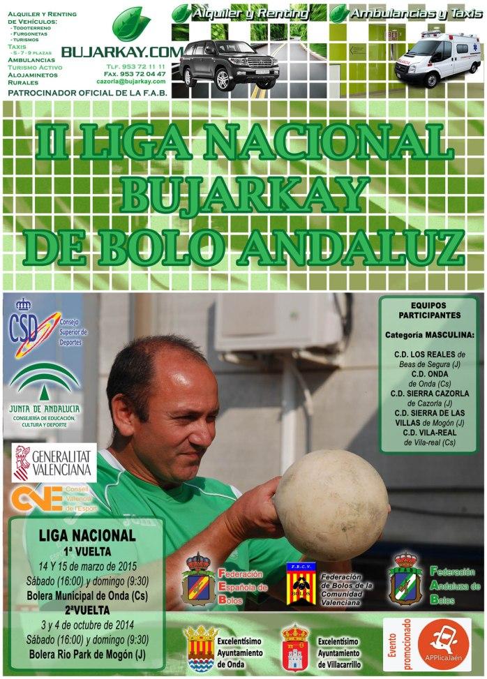 cartel liga nacional de bolo andaluz copia reducida