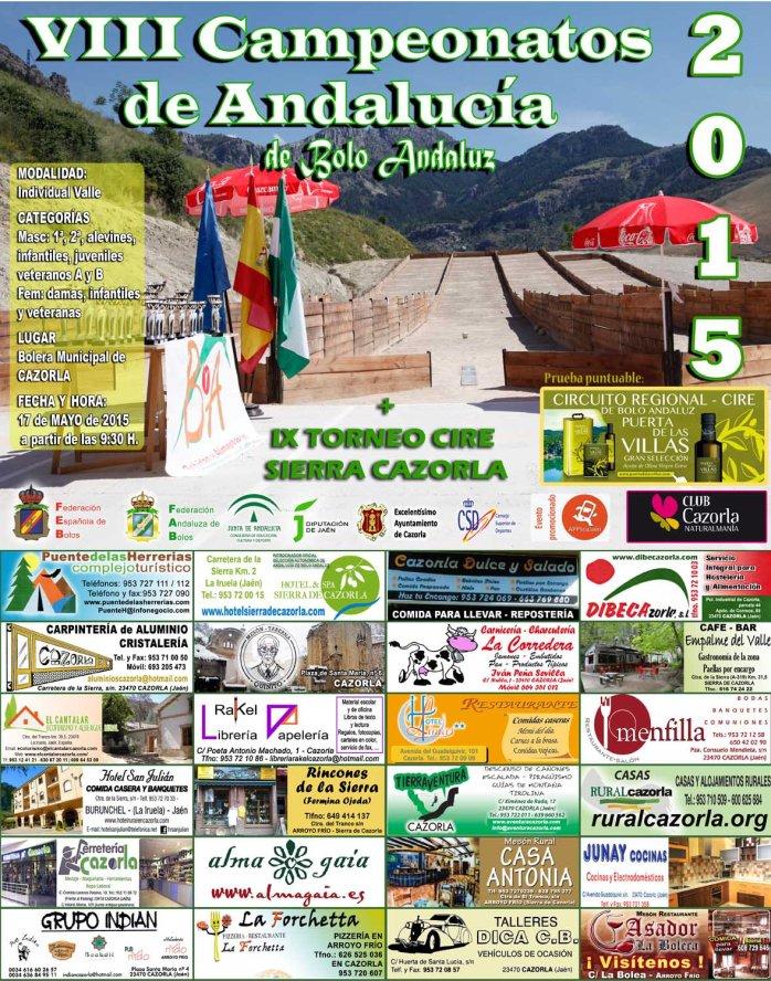 cartel campeonato andalucia bolo andaluz RED