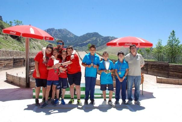 Juegos deportivos masculino montaña