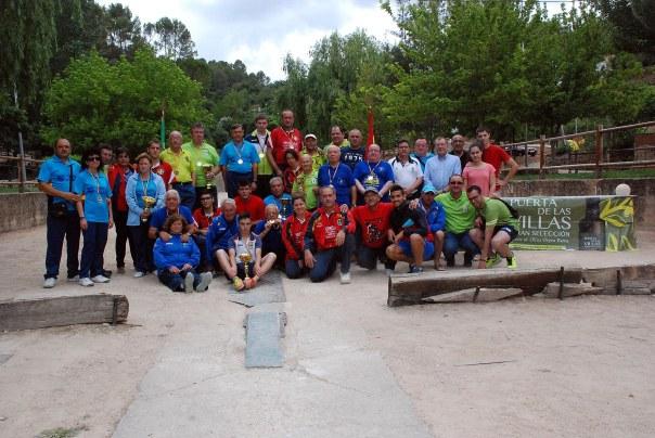Medalistas, autoridades y participantes