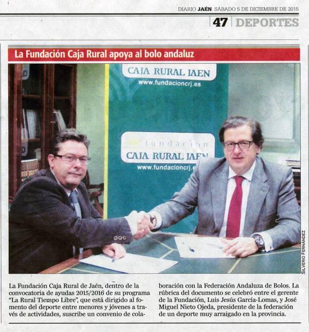 recorte jaen Firma convenio FAB fundacion CRJ 2015