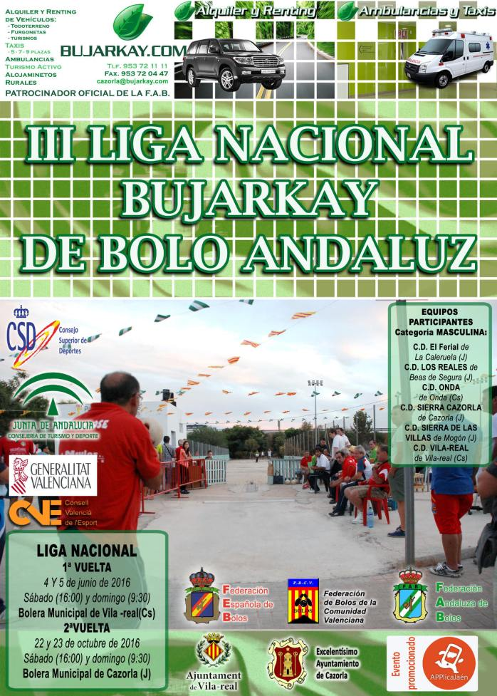 cartel liga nacional de bolo andaluz red